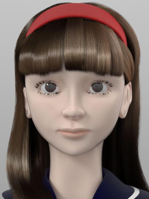 MODO ファー 実験(雪子)